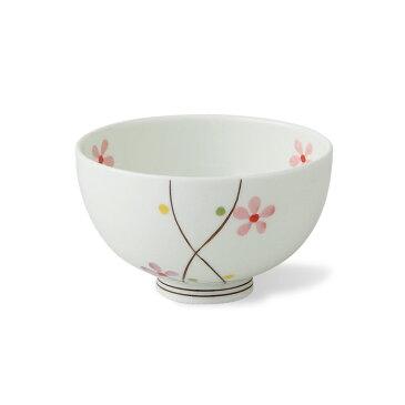有田焼 クロス小花 小 赤 飯碗 ご飯茶碗 お茶碗 夫婦茶碗 来客用 ギフト 贈り物 緑色 花柄 上品 楽天 通販 磁器 はさみ焼 HASAMI おしゃれ