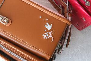 2020年フィットちゃん女の子リトルチュチュシスターランドセル赤ずきんのランドセル刺繍日本製オリジナルシンプルでかわいい刺繍のランドセルキャメルレッド(株)ハシモト富士[FJN][新品番:11075]