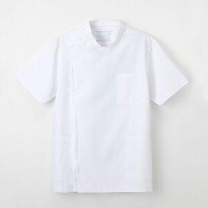 KES-5167 男子横掛半袖 ホワイト BL ナガイレーベン