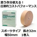 ソフト伸縮テープ ハンドティアテープ Aタイプ 75mm×6.9m 16本×4箱 黒 テーピングテープ LINDSPORTS リンドスポーツ