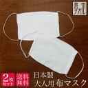 【送料無料】<2枚セット> 日本製 布マスク 洗える 大人用 男女兼用 コットン 綿 100% 泉州タオル マスク 片面パイルタオル2枚重ねマスク ウイルス 風邪 花粉症 予防 セット 在庫あり 白 お一人様5セットまで・・・