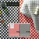 今治タオル ギフト 赤×黒 大人のチェック タオル <フェイスタオル×2> 【楽ギフ_包装選択】【コンビニ受取対応商品】
