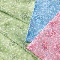 小花グリーン、ブルー、ピンク