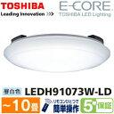 【訳あり特価(箱キズ)】【送料無料】東芝 シーリングライト 10畳(8畳用〜) 調光機能付 昼白色 LED照明器具【RCP】TOSHIBA E-CORE イーコア LEDシーリングライト LEDH91073W-LD