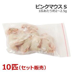 冷凍 ピンクマウス Sサイズ 10匹