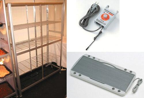 小型温室TOP-1511S ヒーターサーモ付小型温室3点セット 送料無料 小型温室+ピカ保湿プレートヒ...