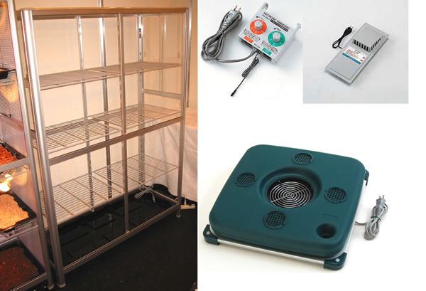 小型温室TOP-1511S 温度可変加温加湿器小型温室4点セット 小型温室+ピカ温度可変加温加湿器+ピカ換気扇+ピカ両用サーモ:ホームセンタートックリ