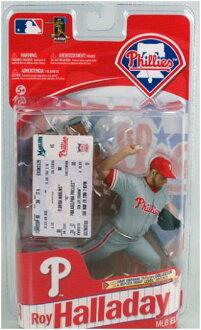 有麥克法蘭玩具MLB花式滑水精英系列1/復製品票的/羅伊·腸日/費城·費城人