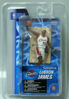 3-Inch McFarlane NBA series LeBron James and Cleveland Cavaliers (white)