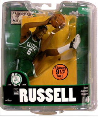 McFarlane NBA figure legends series 3 and Bill Russell and Boston Celtics