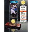 2015年 MLB イチロー Ticket & Minted Coin Acrylic Desk Top/マイアミ・マーリンズ