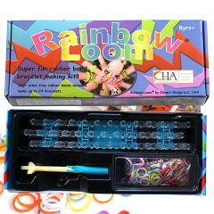 【レインボールーム】【楽天最安値に挑戦中!】NEW Rainbow Loom レインボーカラーの輪ゴムのブ...
