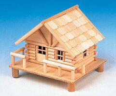 ログハウス貯金箱 北の国 ログハウス Q ◆夏休み・冬休みなどの自由工作・イベントに♪ ◆...