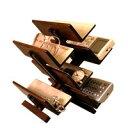 リモコンラック sc97 6ヵ所の収納スペース,起毛状の布貼り,リモコン,眼鏡,腕時計,鍵,スマートフォン,携帯電話【豊岡クラフト】木製品を工房より直送!【送料無料】