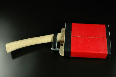 枝打鉈(山型) 両刃 白2鋼 約500g(刃の重さ)樫柄 木鞘(赤)