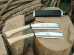 腰鉈営林210磨 両刃 青鋼 45幅 樫柄 木鞘