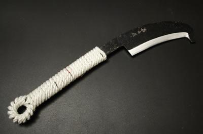 (予約販売)共柄鉈石付 約450g(刃の重さ) 両刃 青2鋼 黒 紐柄 赤合成サック