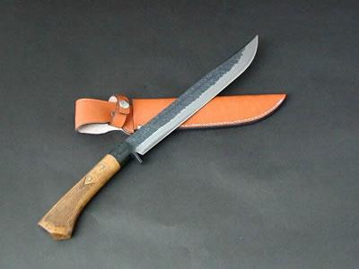 土佐剣鉈チェッカー180 両刃 青 黒槌