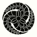 戦国武将 家紋 蒔絵シール 「黒田官兵衛 藤巴/BK」黒 ケータイ スマホ iPhone デコ ステ...