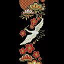 蒔絵シール【舞妓はんの華かんざし 1月(松竹梅)】ケータイ スマホ iPhone カバー デコ ステッカー シール 鶴 梅 七宝 簪 縁起物 2