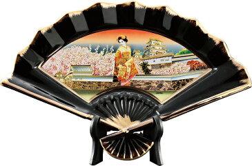 新彫金NEW CHOKIN ART 扇面絵柄皿(大)