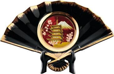 新彫金NEW CHOKIN ART 丸扇面絵柄皿