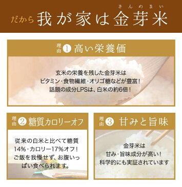 金芽米 特別栽培米6kg【2kg×3袋・送料込】【30年産】※無洗米・LPS(リポポリサッカライド)が豊富で免疫力アップ(きんめまい・お米)