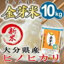 玄米の栄養をたっぷり残した金芽米(無洗米)大分県の『ヒノヒカリ』を使用米 10kg 送料無料 26...