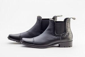 キャサリンハムネットロンドン 靴 レインブーツ ビジネスシューズ サイドゴア 防水 撥水 KATHARINE HAMNETT LONDON 31999 ブラック