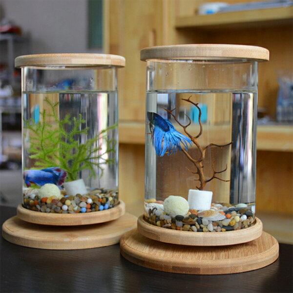 水槽アクアリウム金魚鉢卓上AQUARIUMすいそうおしゃれかわいいオブジェガラス円柱丸形金魚メダカ熱帯魚(※中身は付いてきません