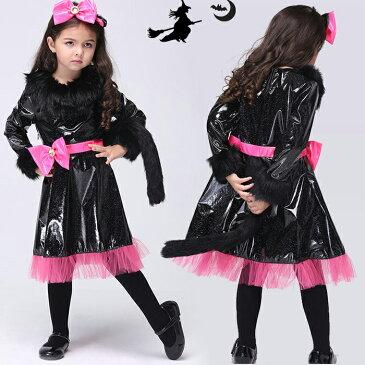 送料無料 ハロウィン 衣装 子供 魔女 魔女 悪魔 コスプレ キッズ 女の子 魔女 コスチューム 子供用 ハロウィーン仮装 衣装 小悪魔 コスプレ衣装 コスチューム