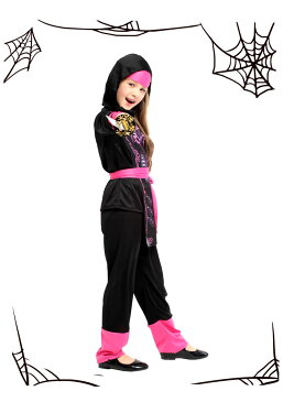 ハロウィン 衣装 子供 ハロウィン 忍者 コスプレ くのいち ハロウィン 時代劇 コスチューム 衣装 仮装 女の子 コスチューム 魔法 巫女 デビル ハロウィーン 小魔女 魔法使い ハロウィン コスプレ