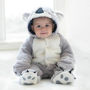 b3f1fcbd93161 新生児 赤ちゃん カバーオール ベビー 着ぐるみ コアラ 熊さん キッズ ベビー 服 長袖 カバーオール ロンパース 子供 男の子