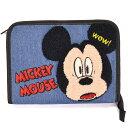 ディズニー ミッキー 母子手帳ケース さがら刺繍