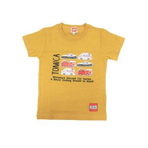ベビーザらス限定 TOMICA クルマ集合 半袖Tシャツ ( ブライトイエロー×100cm)