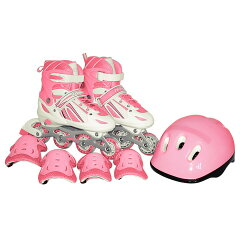 トイザらス限定 インラインスケート トゥインクルコンボセット SOFT ピンクS (18〜20cm)...