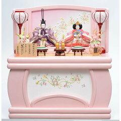 【雛人形】収納親王飾り「花みやびシャーベットピンク」【送料無料】