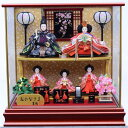 【雛人形】ベビーザらス限定 ケース五人飾り「小桜格子付ワインレッド」【送料無料】