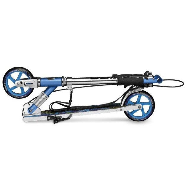 トイザらスAVIGOハンドブレーキ付き145mmビッグウィールスクーター(ブルー)【送料無料】
