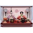 【雛人形】ベビーザらス限定 ケース親王飾り「桜の宴六角アクリル」【送料無料】