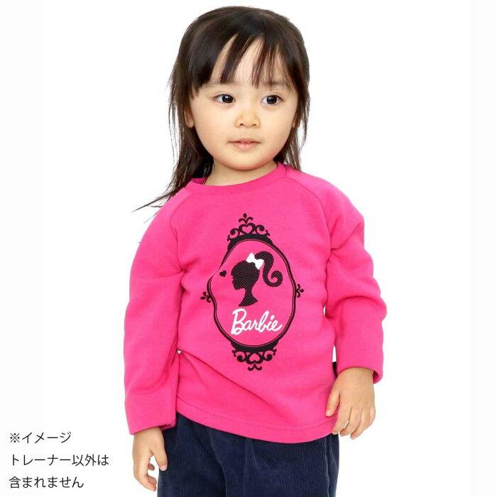 Barbie バービー 裏起毛 トレーナー(ピンク×95cm)