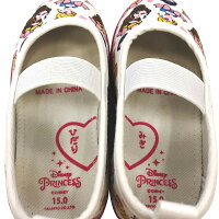 ディズニープリンセス総柄上履き上靴バレエシューズ(ピンク×18.0cm)