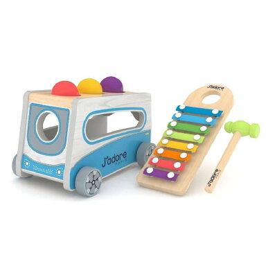3歳 男の子 プレゼント3歳男の子ボーイプレゼント誕生日贈り物おもちゃおもちゃ以外選び方ポイントおしゃれな木のおもちゃ大人気キャラクター知育玩具ファッションアイテムおすすめジャドール 木製ミニバス ボール&シロフォン