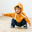 ベビーザらス限定 長袖トレーナー くま フード耳付き(オレンジ×70cm)
