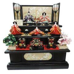 【雛人形】三段五人飾り「金彩五重塔」【送料無料】