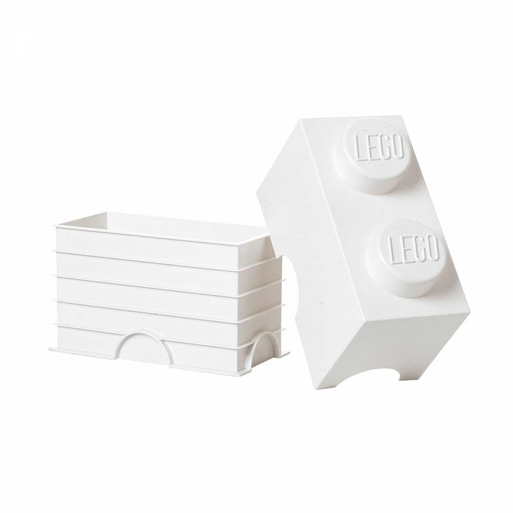 レゴ ストレージボックス ブリック 2 ホワイト【レゴ 収納】【オンライン限定】
