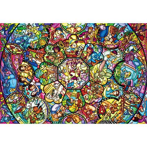 ジグソーパズル ディズニー 108ピース ピュアホワイト オールスターステンドグラス(DPG266-563)【ディズニーパズル】