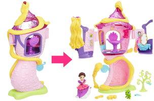 ディズニープリンセスリトルキングダムラプンツェルの塔の上のサロン【おもちゃディズニーDisneyお人形フィギュアハウス】