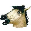 【ハロウィン】【マスク】アニマルマスク ゴールドホース 金馬