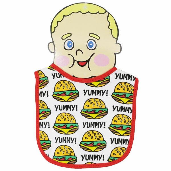 【メール便可】BABY BIB YUMMY BURGER【 赤ちゃん 赤ん坊 よだれかけ 綿素材 雑貨 日用品 】